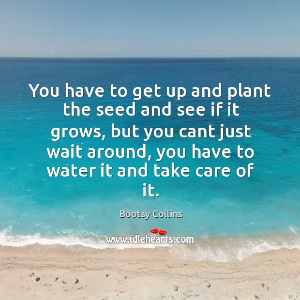 You have to get up and plant the seed and see if Image