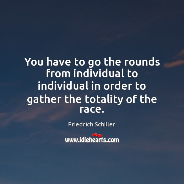 You have to go the rounds from individual to individual in order Image