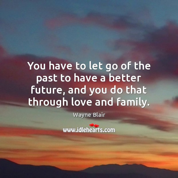 You have to let go of the past to have a better Image
