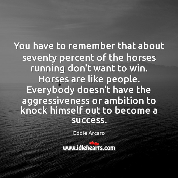 Image, You have to remember that about seventy percent of the horses running