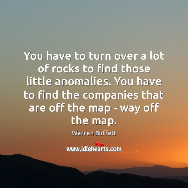Image, You have to turn over a lot of rocks to find those