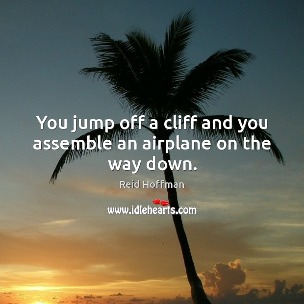 You jump off a cliff and you assemble an airplane on the way down. Reid Hoffman Picture Quote