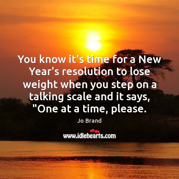 Image, You know it's time for a New Year's resolution to lose weight