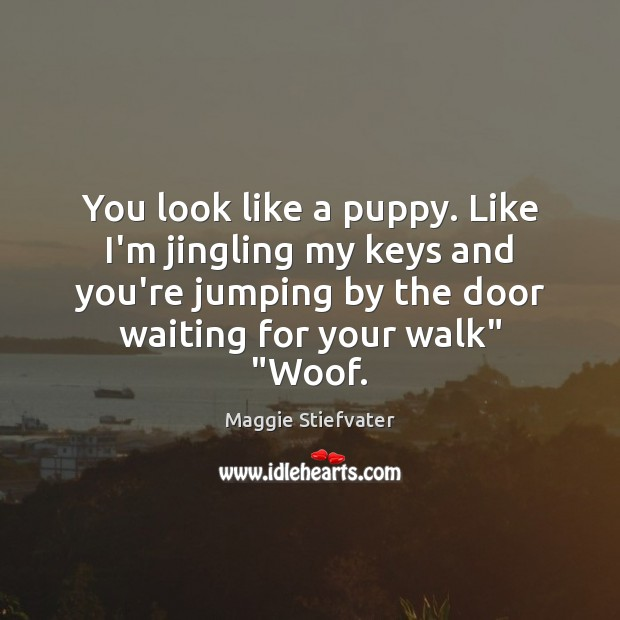 You look like a puppy. Like I'm jingling my keys and you're Image