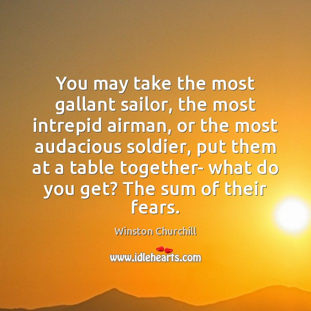 Image, You may take the most gallant sailor, the most intrepid airman, or