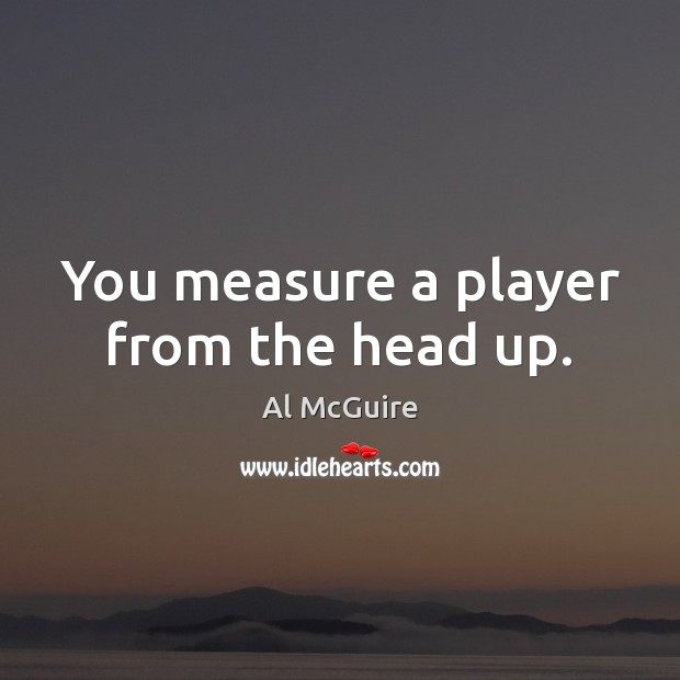 Image, You measure a player from the head up.