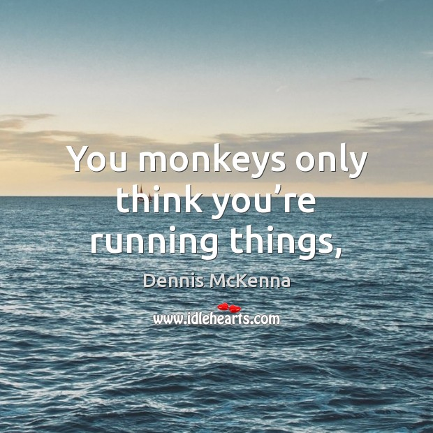 You monkeys only think you're running things, Image