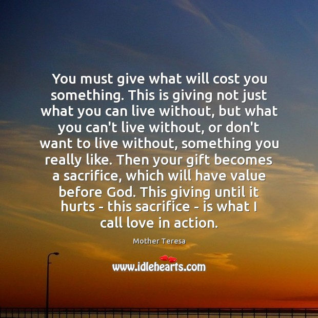 Image, You must give what will cost you something. This is giving not