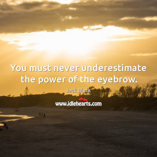 You must never underestimate the power of the eyebrow. Image