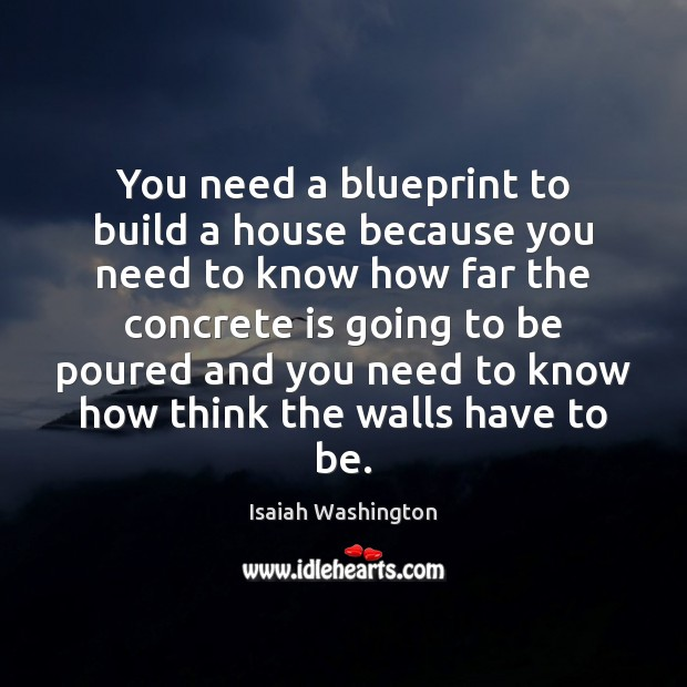 You need a blueprint to build a house because you need to Image
