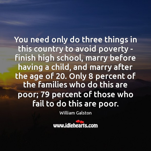 Image, You need only do three things in this country to avoid poverty