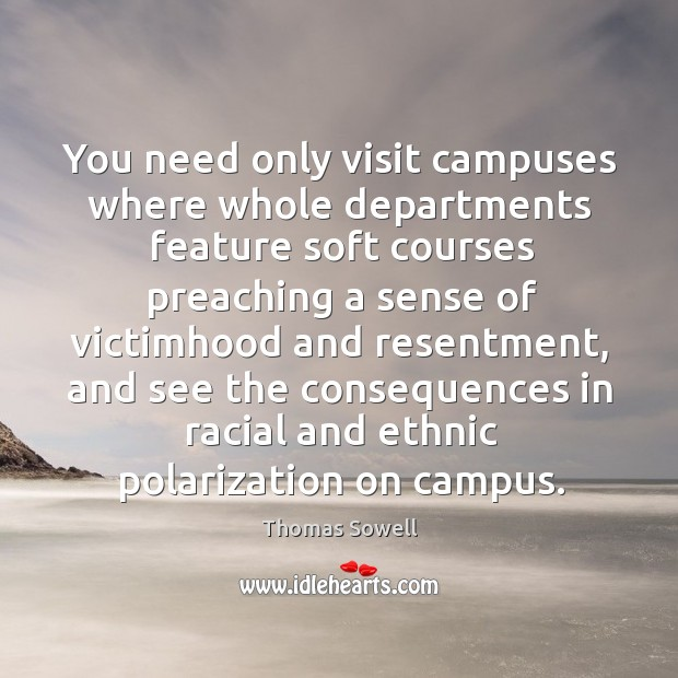 Image, You need only visit campuses where whole departments feature soft courses preaching