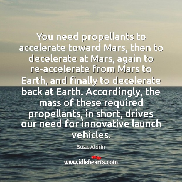 You need propellants to accelerate toward Mars, then to decelerate at Mars, Image