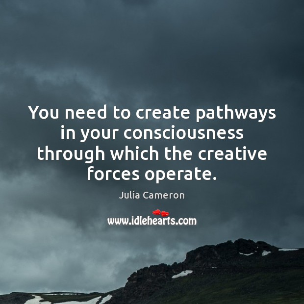 Image, You need to create pathways in your consciousness through which the creative
