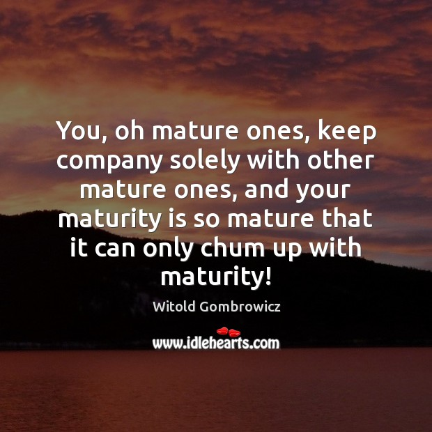 Maturity Quotes Image