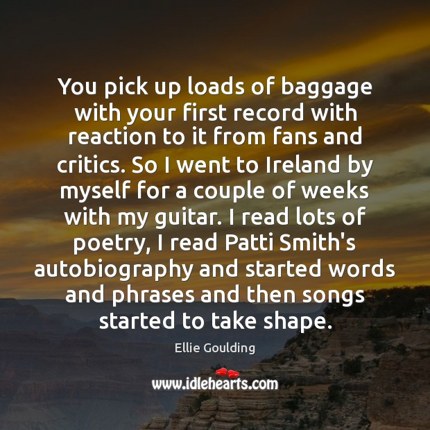 You pick up loads of baggage with your first record with reaction Image
