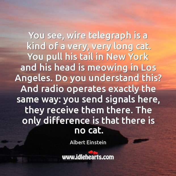 Image, You see, wire telegraph is a kind of a very, very long