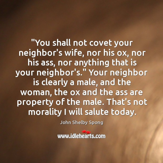 """Image, """"You shall not covet your neighbor's wife, nor his ox, nor his"""