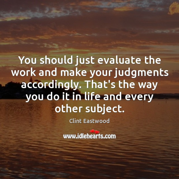 You should just evaluate the work and make your judgments accordingly. That's Image