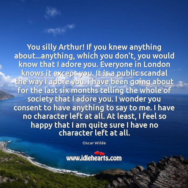Image, You silly Arthur! If you knew anything about…anything, which you don't,