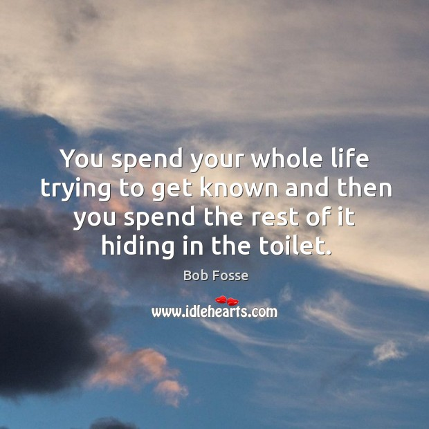 Image, You spend your whole life trying to get known and then you