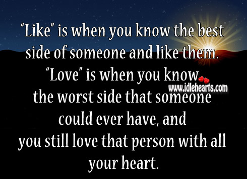 You Still Love That Person With All Your Heart.