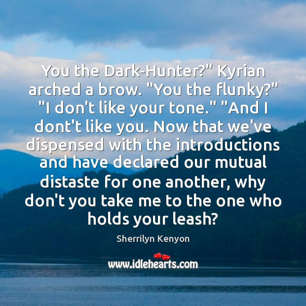 """You the Dark-Hunter?"""" Kyrian arched a brow. """"You the flunky?"""" """"I don't Image"""
