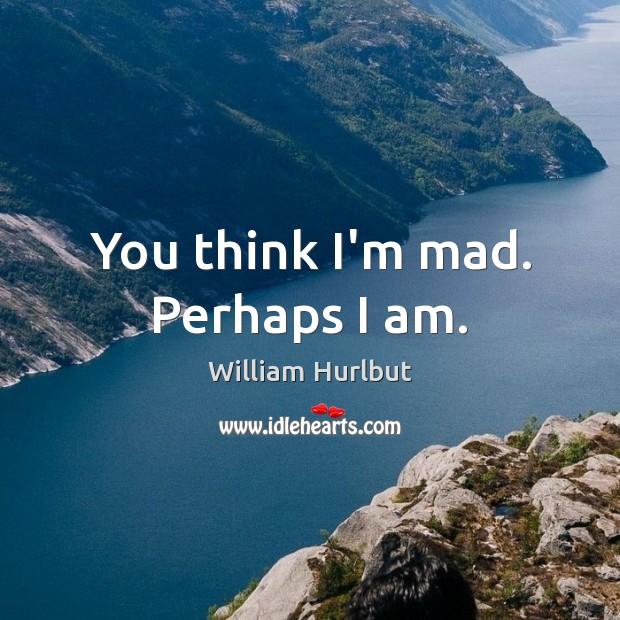 You think I'm mad. Perhaps I am. Image