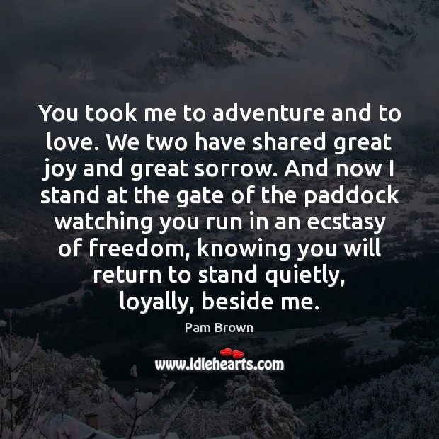 Image, You took me to adventure and to love. We two have shared