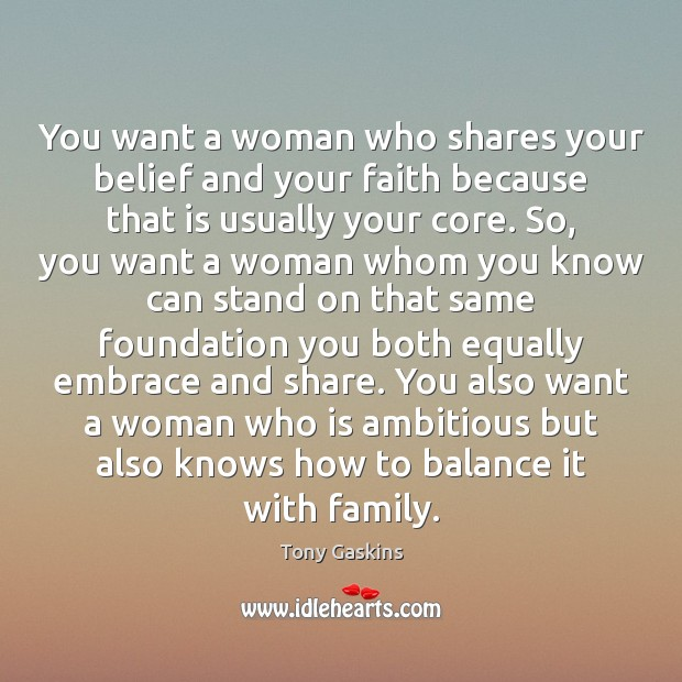 Image, You want a woman who shares your belief and your faith because