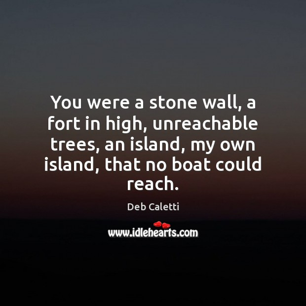 You were a stone wall, a fort in high, unreachable trees, an Image