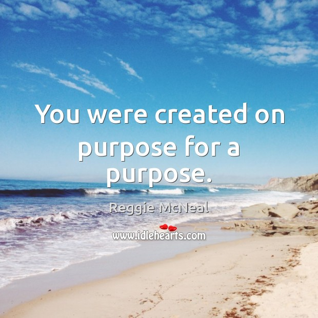 You were created on purpose for a purpose. Image
