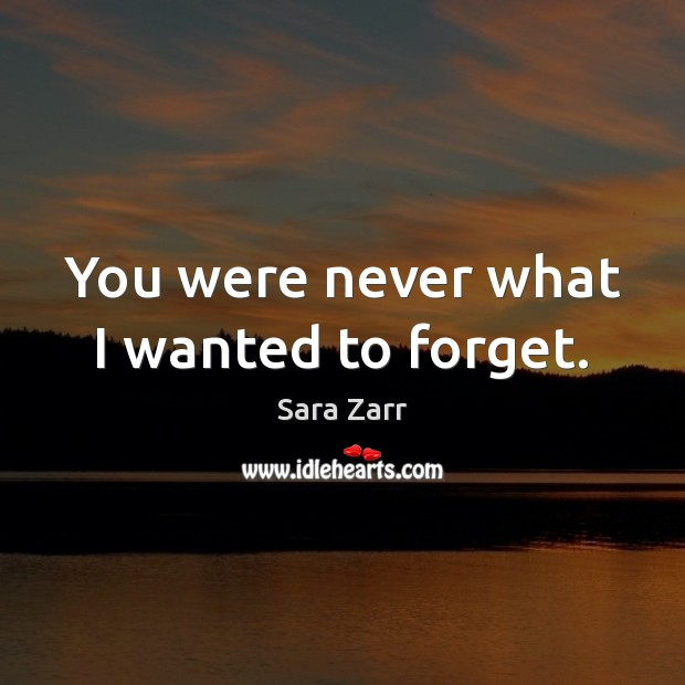 You were never what I wanted to forget. Image