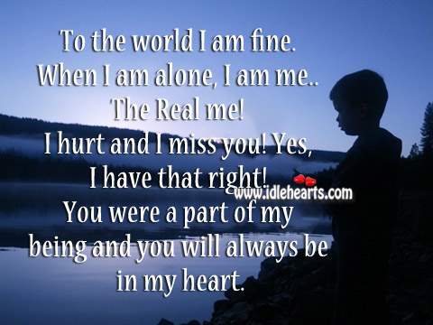 you l be in my heart: