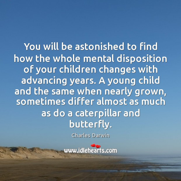 You will be astonished to find how the whole mental disposition of Charles Darwin Picture Quote