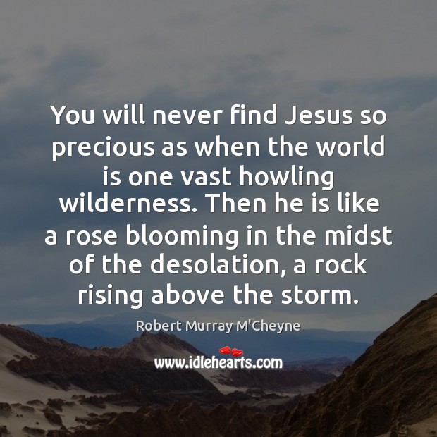 You will never find Jesus so precious as when the world is Image