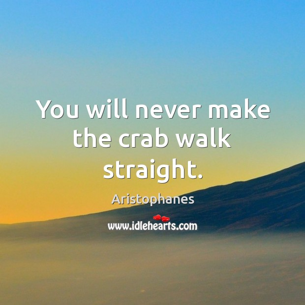 Image, You will never make the crab walk straight.
