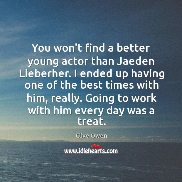 You won't find a better young actor than Jaeden Lieberher. I ended Image