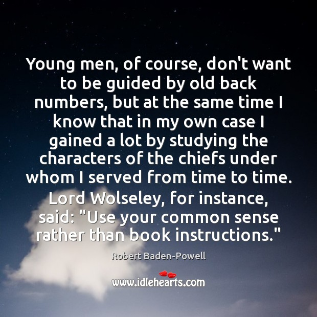 Young men, of course, don't want to be guided by old back Image