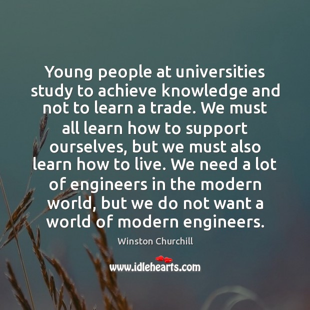 Image, Young people at universities study to achieve knowledge and not to learn