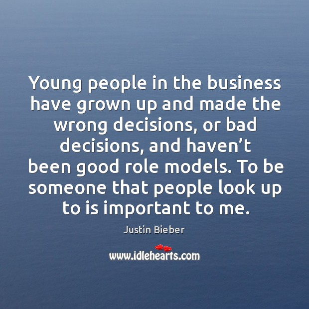 Young people in the business have grown up and made the wrong decisions Image