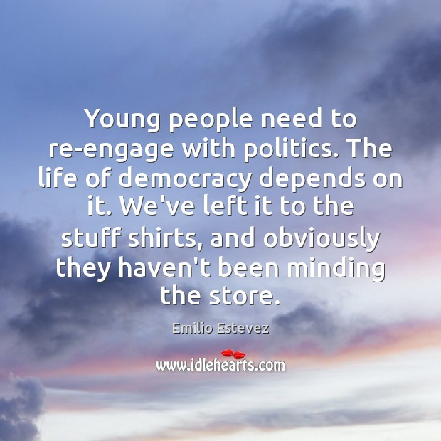 Young people need to re-engage with politics. The life of democracy depends Image