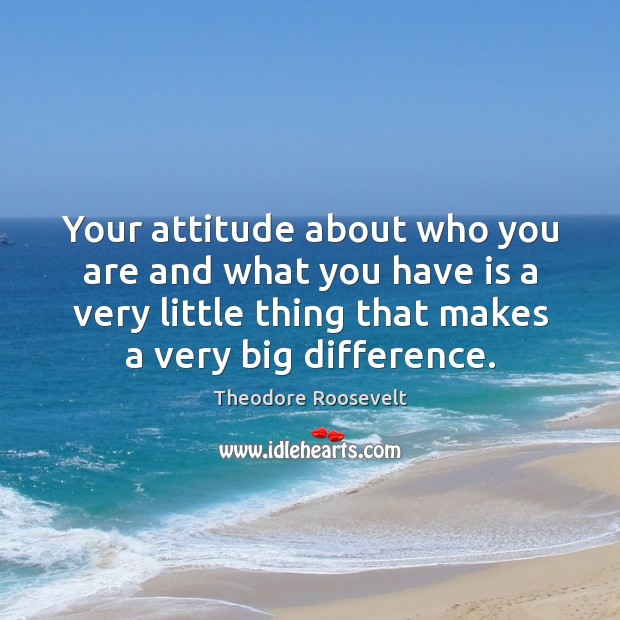 Image, Your attitude about who you are and what you have is a