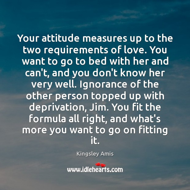 Your attitude measures up to the two requirements of love. You want Image