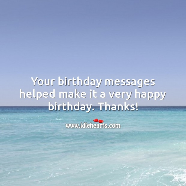 Thank You for Birthday Wishes