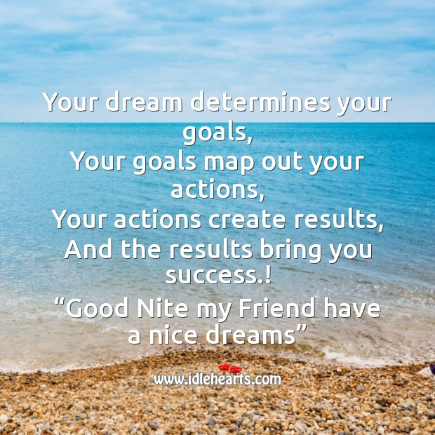 Your dream determines your goals Image