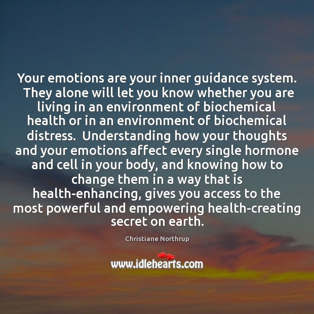 Your emotions are your inner guidance system.  They alone will let you Image