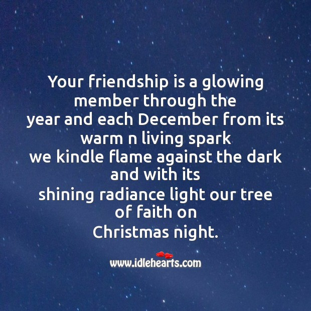 Image, Your friendship is a glowing member