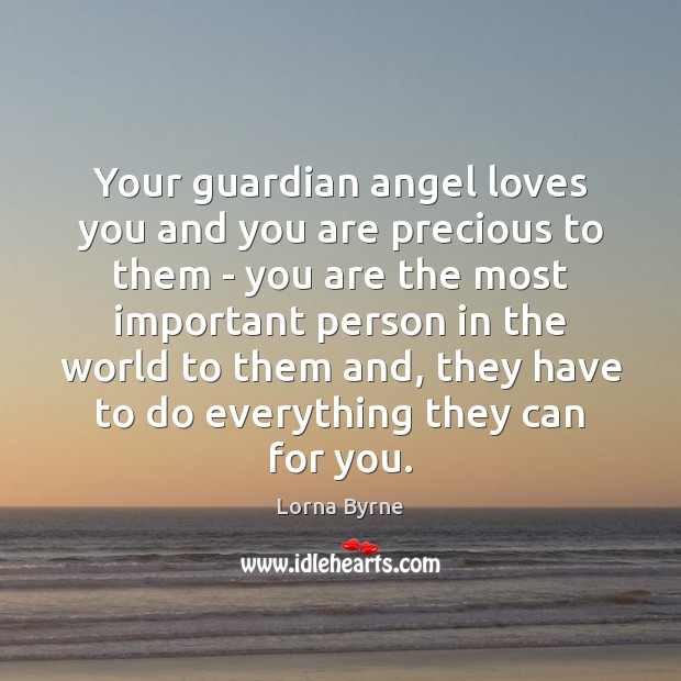 Image, Your guardian angel loves you and you are precious to them –