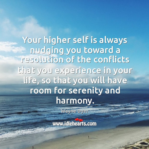 Your higher self is always nudging you toward a resolution of the Image